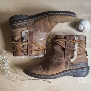 Ugg Short Shearling Lace Up Boots